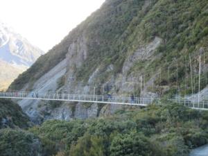 フッカーバレーのつり橋